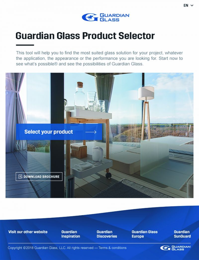 Guardian Glass Product Selector